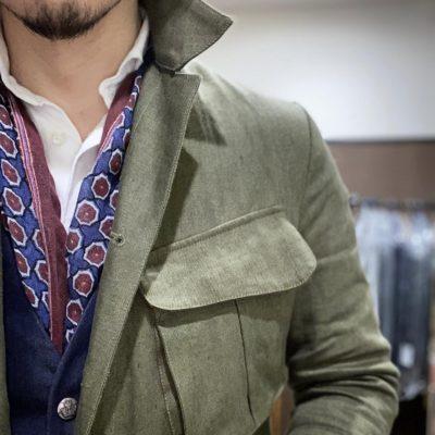 アルテ平和本店 オリジナルサファリジャケット フロントポケット