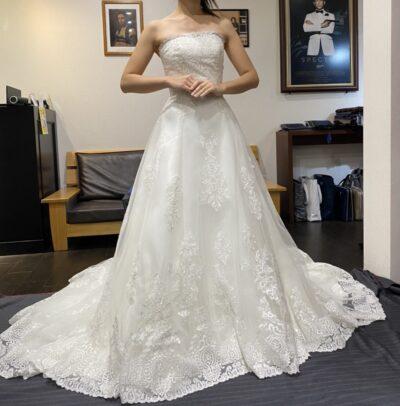 ウェディングドレスのお直し事例アフター1