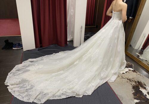 ウェディングドレスのお直し事例アフター2