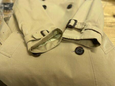 バーバリートレンチコート袖口のお直し後2
